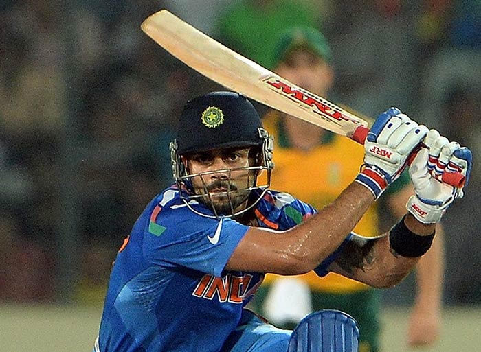 Hardly known to give opposition any leeway, Kohli's eyes were full of determination as he also became the highest run-getter in the tournament.