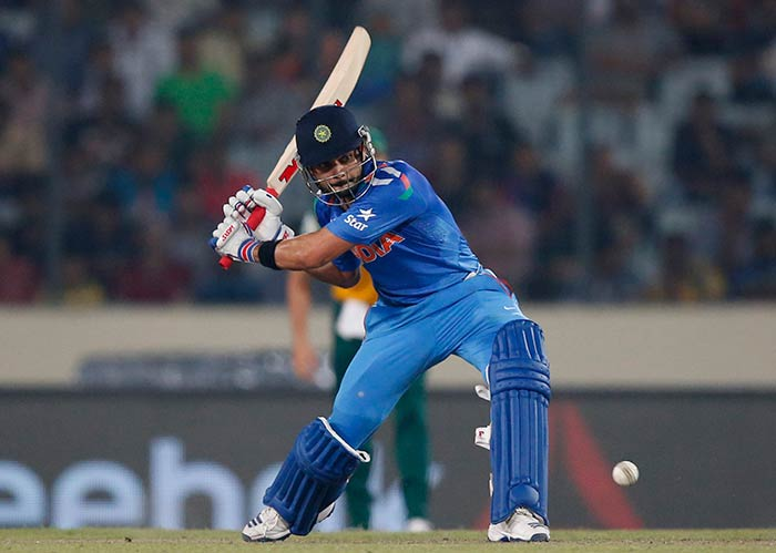 Building on his excellent showing in the first four matches of Super-10, Kohli helped India cruise past South Africa with a knock worth 72* off 44, and storm into the final.
