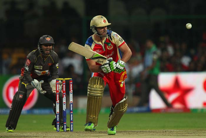 AB de Villiers - playing his first match of the season - could not put up a decent score for his side either and was caught by Hanuma Vihari after scoring just 15 runs.(BCCI Image)