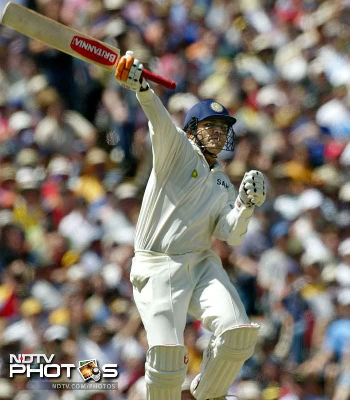 <b>151 vs Australia. Adelaide 2008</b> <br> <br> In the second innings, none except Sehwag managed to score more than 20! India ended the day on 269/7, Sehwag scored 151.