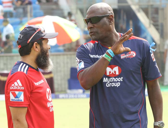 In a conversation with Delhi's bowling coach Mushtaq Ahmed, the former Pakistan spinner. (BCCI image)