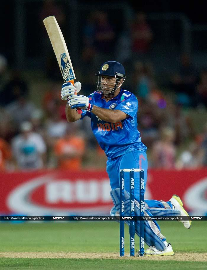 MS Dhoni led from the front with a valiant 56 off 44 balls as India looked to chase down 297.