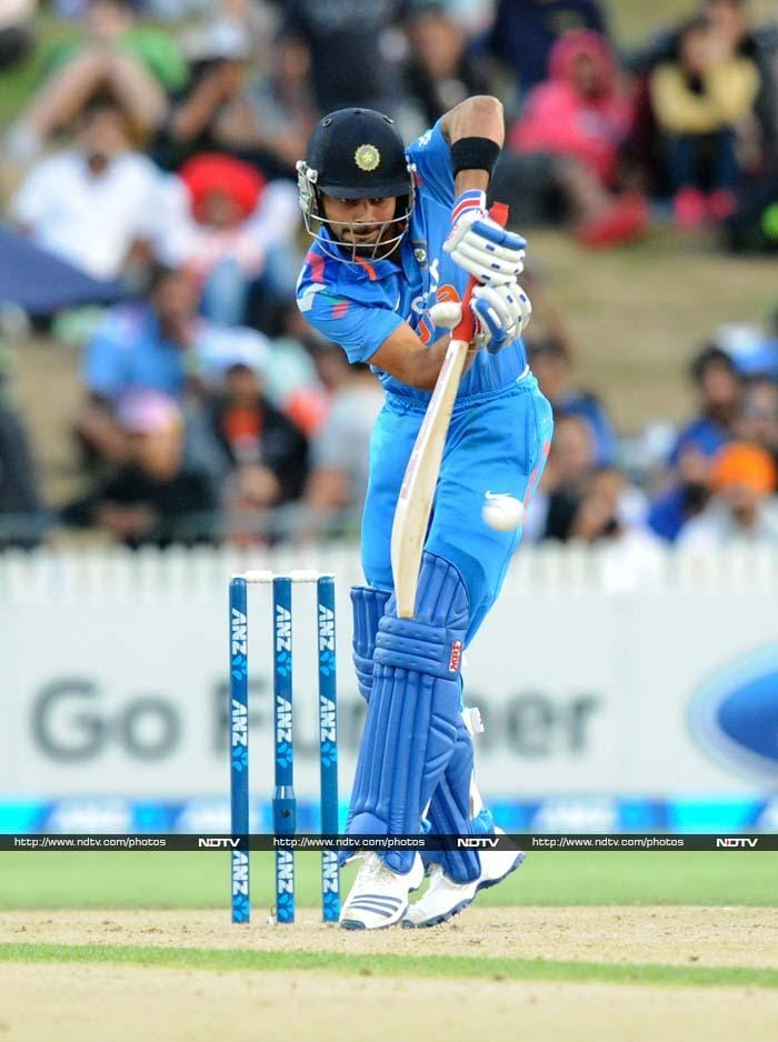 Virat Kohli picked up from where he left off at Napier as he smashed a quick 78.