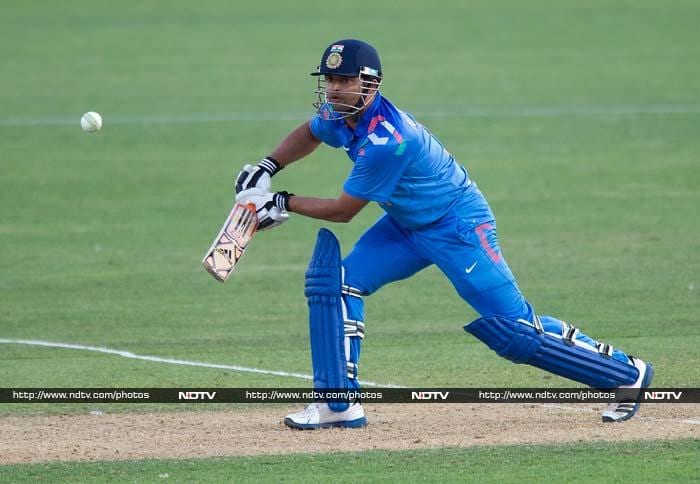 Suresh Raina hit a 22-ball 35 as he hoped to finish it for India.
