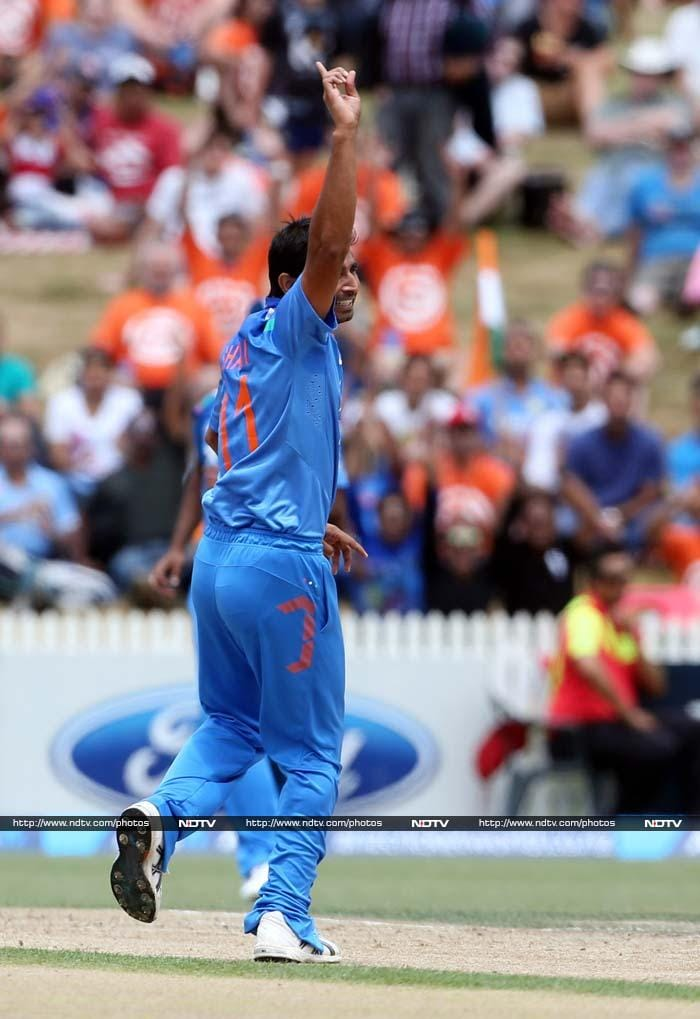 Mohammed Shami struck early when he removed the dangerous Jesse Ryder.