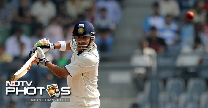 West Indies added 11 runs to their overnight total of 579 before openers Gautam Gambhir and Virender Sehwag came out to bat.