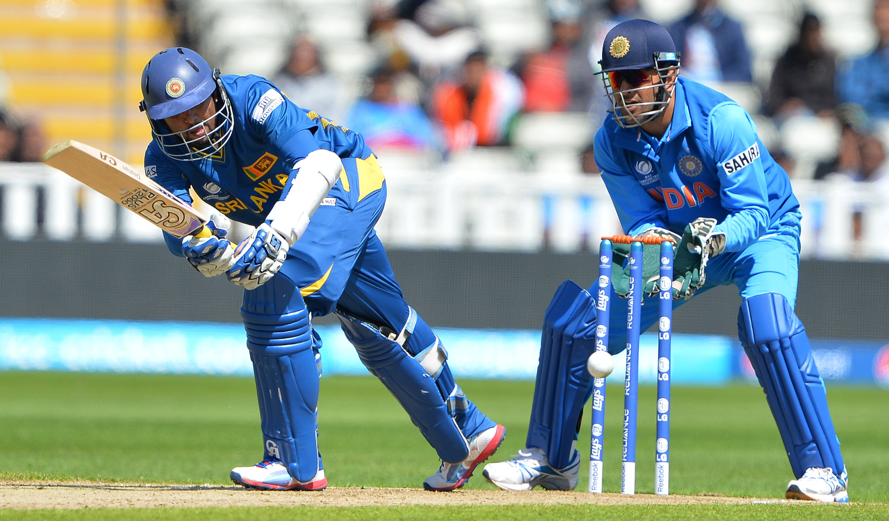 Tillakratne Dilshan found good form going into the ICC Champions Trophy as he top scored for Sri Lanka with 84 from 78 balls. Dilshan hit nine fours and a six.