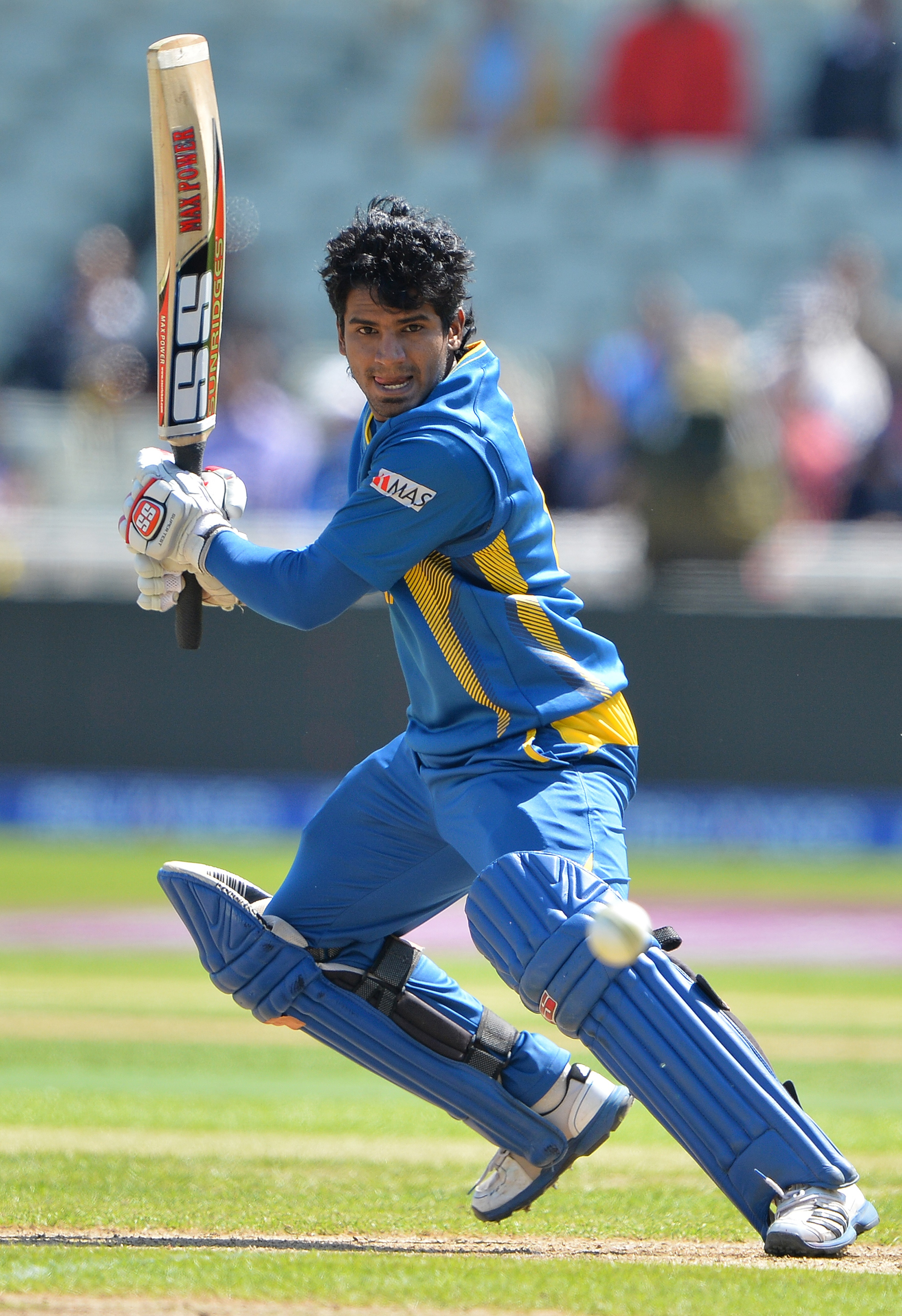 Kusal Janith Perera was severe on the Indian bowlers, who failed to find their line and length early on in the innings after MS Dhoni won the toss. Perera hit 82 from 94 balls with 7 fours and 3 sixes before being retired out. (All AFP images)