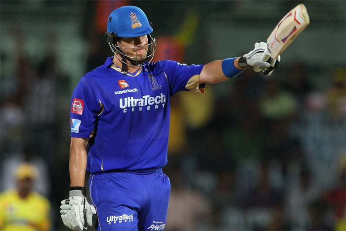 Rajasthan Royals' Shane Watson smashed his way to the first century of this edition of the Indian Premier League. Such was the ferocity with which he played that Chennai Super Kings' bowlers had no answer to the sheer talent and skill on display. (BCCI image)