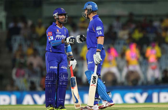 He got good support from fellow opener Ajinkya Rahane but even when he lost his company, Watson continued to blast his way forward. <br><br>His half-century came off just 29 deliveries and had five boundaries and three sixes.(BCCI image)