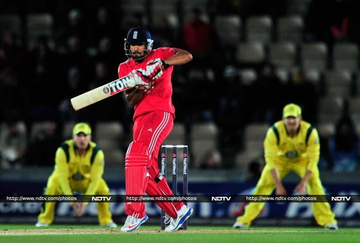 In the chase England lost wickets at regular intervals, with only Ravi Bopara (62) and Jos Buttler (42) showing any resistance.
