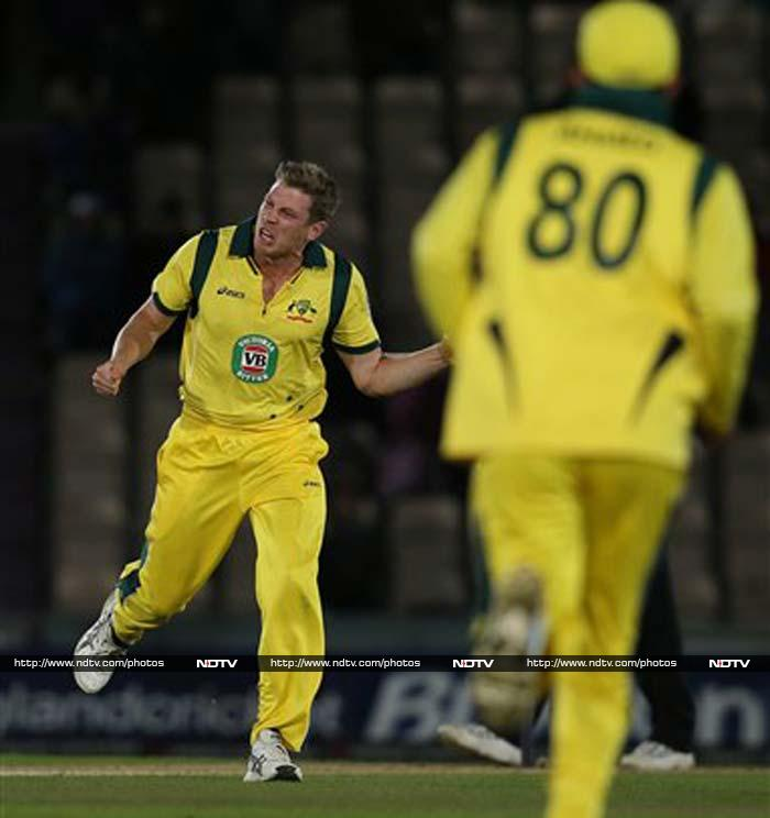Ultimately England were bowled out for 249, as James Faulkner finished with 3/38.