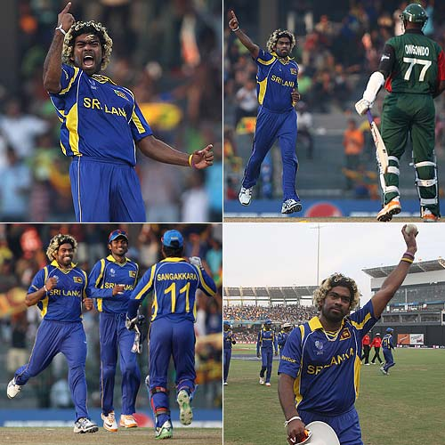 Sri Lanka's king of sling claimed a second World Cup hat-trick in a six-wicket haul against hapless Kenya in Colombo. Malinga sent back Tanmay Mishra, Peter Ongondo and Shem Ngoche in successive balls. In 2007, he had taken four in four balls against South Africa.