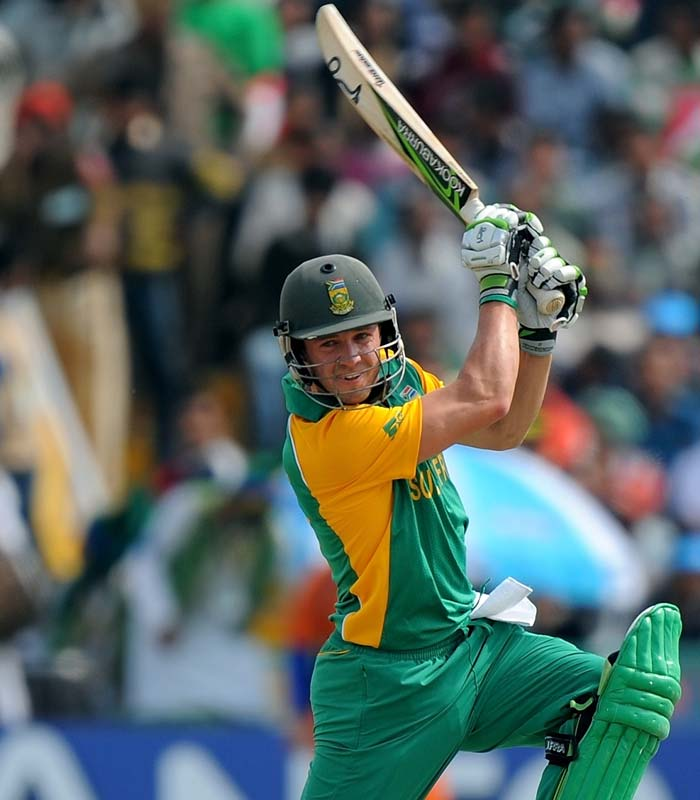 Earlier, man of the match AB de Villers top scored for South Africa smashing 134 off 98 balls courtesy 13 fours and 4 sixes. (AFP Photo)