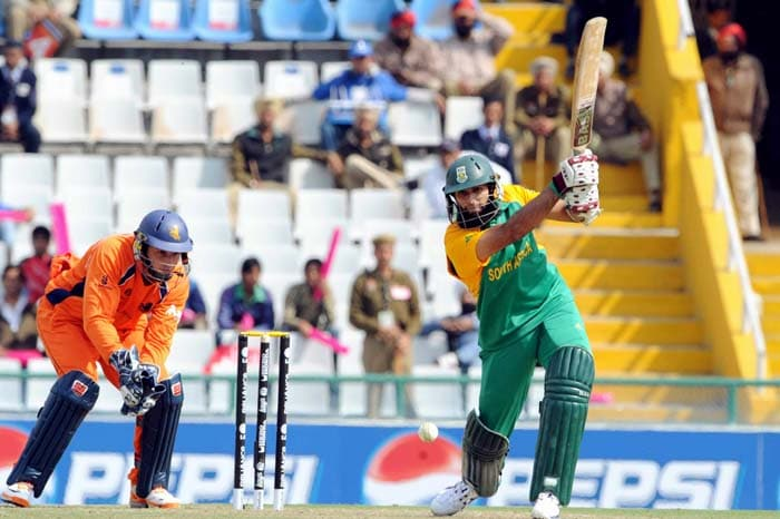 Opener Hashim Amla was the other centurion for the Proteas scoring 113 off 130 balls with 8 hits to the boundary. (Getty Images)