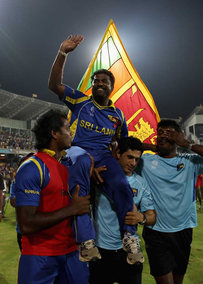<b>Muttiah Muralitharan (15 wickets) </b><br><br> With the World Cup being held in the subcontinent, spinners were always a danger but none more than the man who can spin the ball on any given track. (Getty Images)
