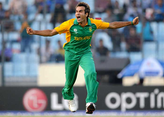 <b>Imran Tahir (14 wickets) </b><br><br> Imran Tahir's South Asian descent paid off at World Cup 2011 as the Pakistan born South African spinner picked up 14 wickets at an average of a mere 10 runs per wicket. (Getty Images)