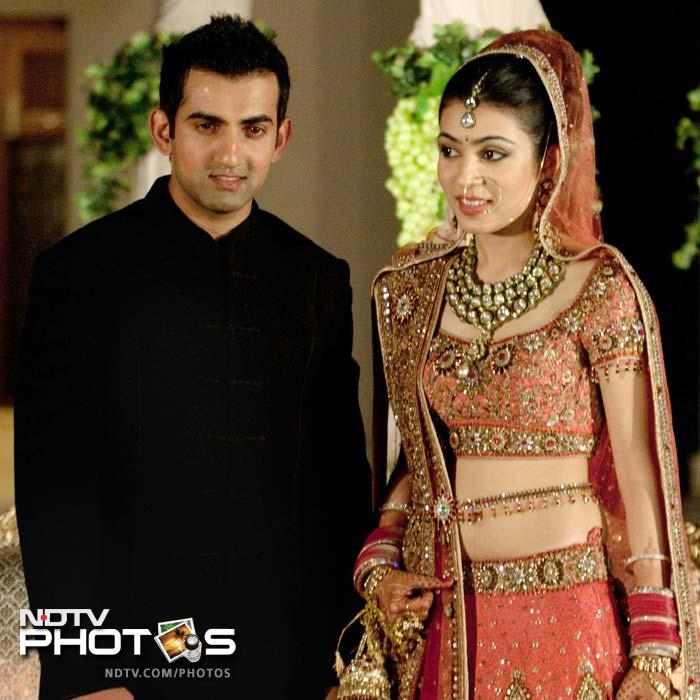 <b>Gautam Gambhir:</b> Considered one of India's most eligible bachelors, the south-paw chucked his cricketing gears to don a stylish sherwani as he tied the knot with the Natasha, daughter of a Delhi-based businessman. Needless to say, the shy opener, opened his wedding innings in a closely guarded ceremony.