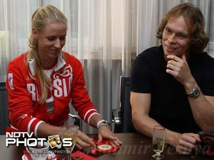 <b>Elena Dementieva and Maxim Afinogenov:</b> Men drooled over this tennis sensation and possibly the same men envied the ability of the NHL player on the ice. Little wonder then that the two Russians decided to combine forces in holy matrimony. Watch out for the coming generation, we say - stamina of a tennis player with the brute strength of an ice-hockey athlete.