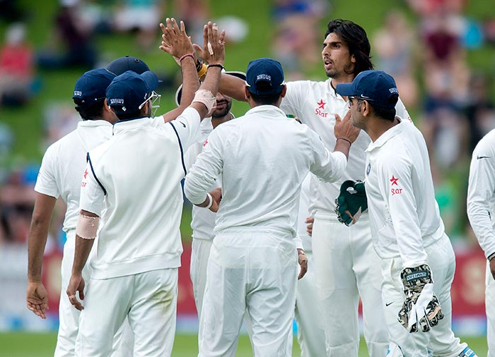 Ishant soon was on fire as he took three wickets in three overs.