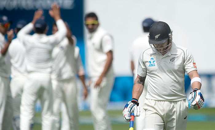 When Brendon McCullum was dismissed by Mohd Shami, the Kiwis were reeling at 45/4.