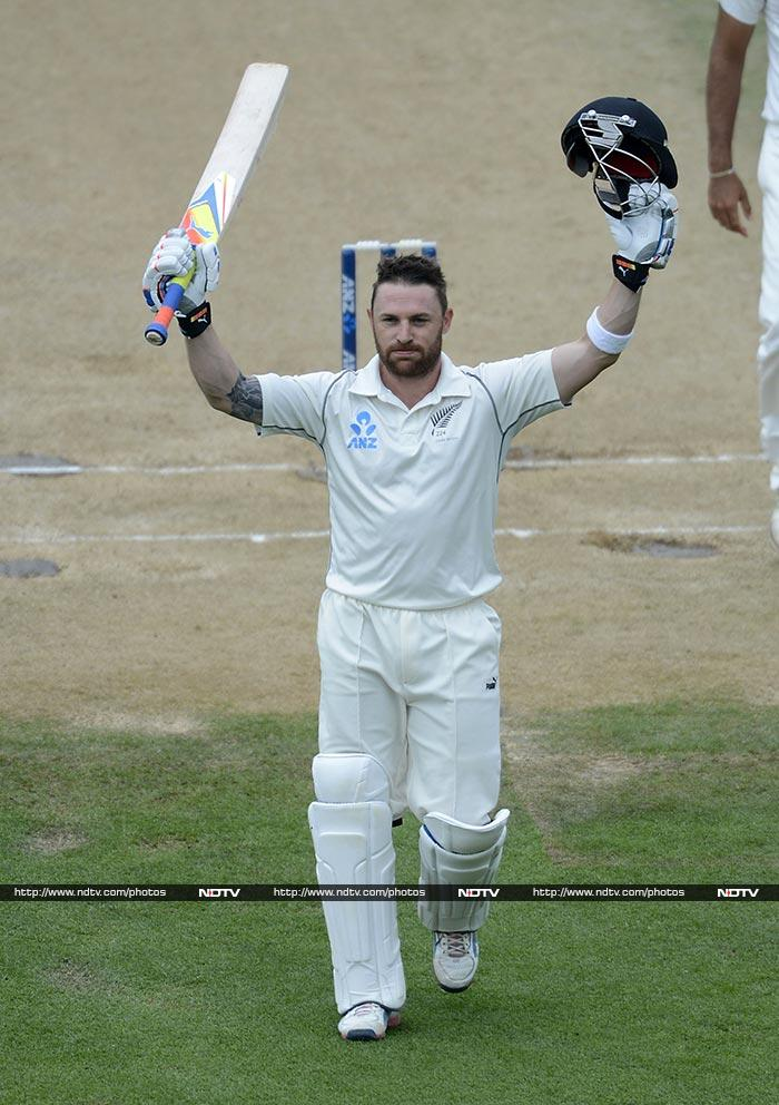 Brendon McCullum created history by becoming the first Kiwi player to score a triple hundred in Test cricket. He broke Martin Crowe's record of 299 and ended with 302.