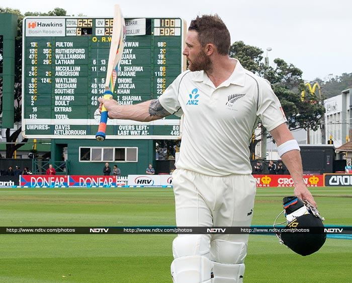 Brendon McCullum faced 559 balls, spent 775 mninutes at the crease and his 302 was laced with 32 fours and 4 sixes. He also became the first captain in history to score a double ton and triple hundred in consecutive Test matches.