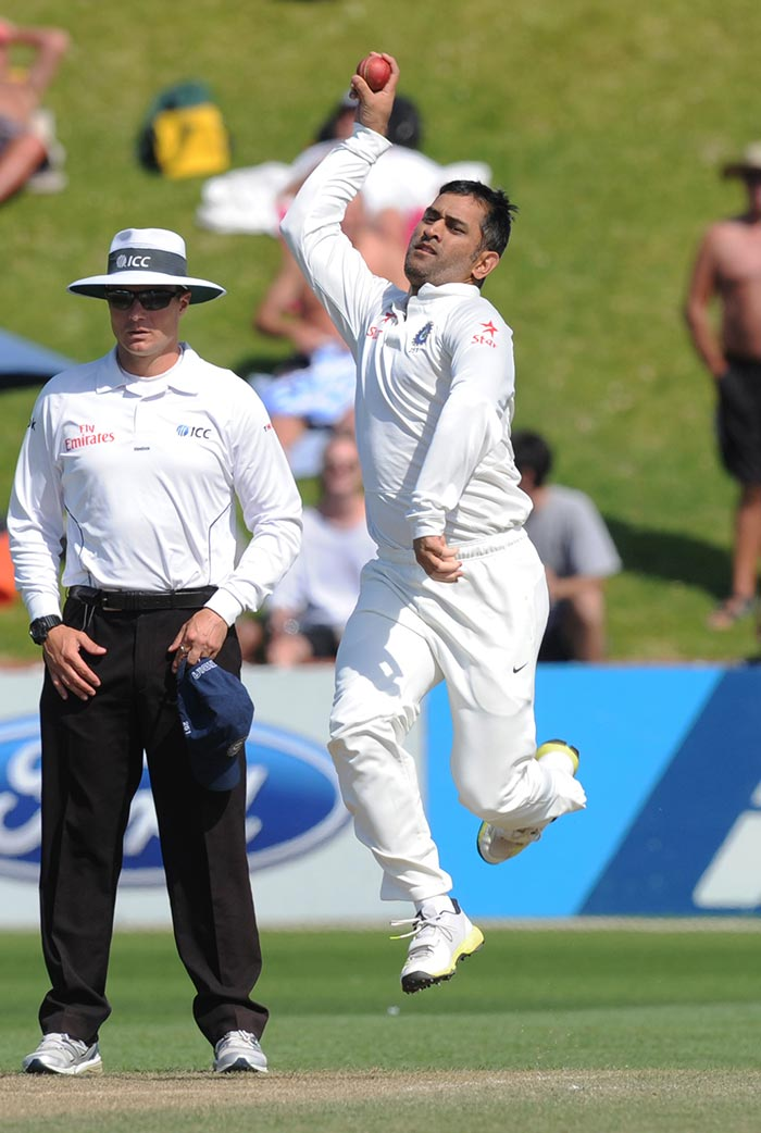 The McCullum-led Kiwi batting today send the Indian attack to a leather hunt that gave a lot of headaches to MS Dhoni, who had to bring himself on at some stage to the bowling crease.