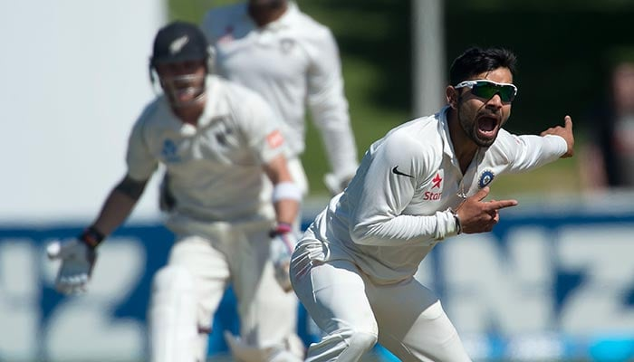 Virat Kohli bowled 6 overs, giving away 13 runs. His slow medium could hardly trouble the Kiwis but he gave his all while bowling.