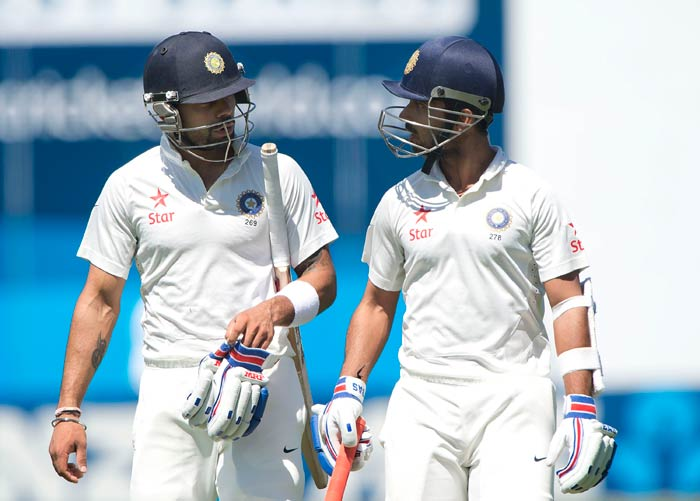 Virat Kohli, was joined by Ajinkya Rahane and the two started a rebuilding process with a 63-run stand before Kohli was out for 38.