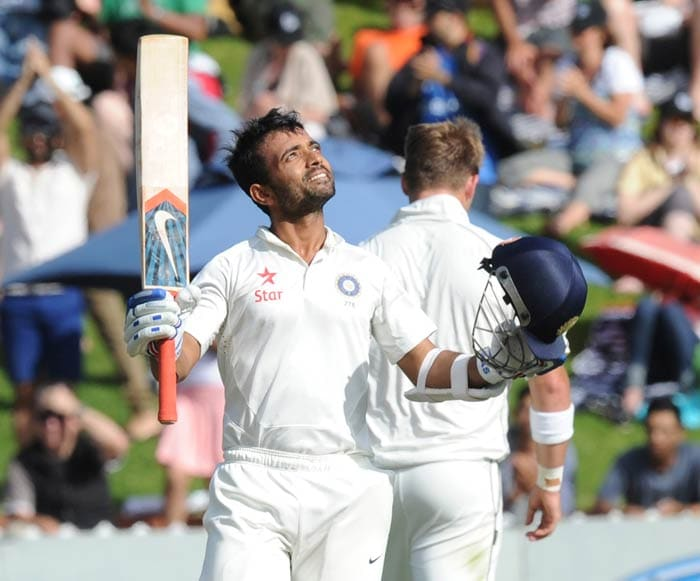 Rahane then went on to complete his maiden Test hundred, in 149 balls.