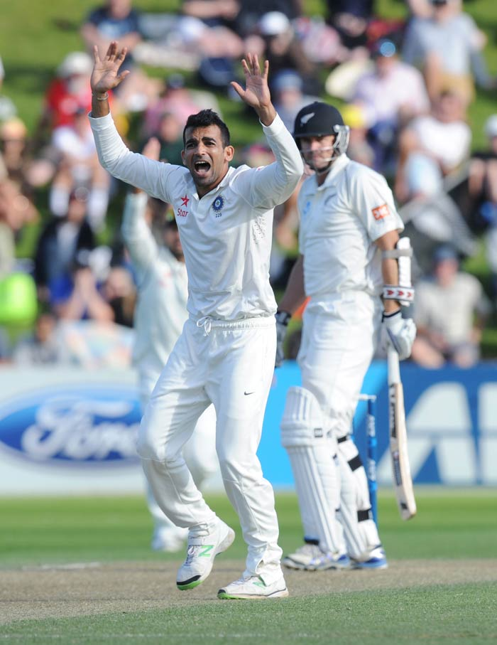 Staring at a massive 246-run 1st innings deficit, New Zealand lost opener Peter Fulton in the second over as Zaheer Khan got one to nip back in and the tall right-hander offered no shot as the ball hit the front pad. The hosts went into stumps on Day 2 at 24/1, trailing by a further 222 runs.