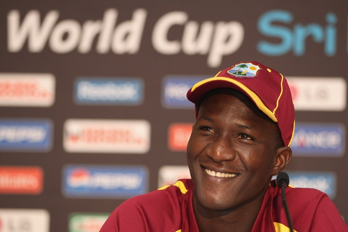 <b>DARREN SAMMY (capt)</b><br><br> <b>Age: </b>27.<br><b>Role: </b>Right-hand batsman, Right-arm fast-medium<br> <b>Stats: </b>ODIs 46, Runs 536, Highest 58 not out, Average 23.30, Strike-Rate 96.40, Centuries 0, Fifties 2, Catches 23, Wickets 31, Best bowling 4-26, Average 46.38, Economy Rate 4.53<br><br> St Lucia's first international cricketer, Sammy took over the captaincy when Chris Gayle refused a central contract. In an up and down career, he took seven wickets on his Test debut in England and has smashed fastest ever ODI 50 by a West Indian.(Photo: Getty Images)