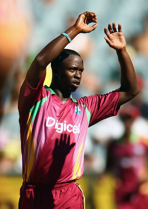 <b>KEMAR ROACH</b><br><br> <b>Age: </b>22.<br><b>Role: </b>Right-hand batsman, Right-arm fast<br> <b>Stats: </b>ODIs 15, Runs 29, Highest 10, Average 5.80, Strike-Rate 69.04, Centuries 0, Fifties 0, Catches 1, Wickets 26, Best bowling 5-44, Average 22.42, Economy Rate 4.82<br><br> Fast enough to once force Ricky Ponting to retire hurt, Roach was leading wicket taker against Bangladesh in traumatic 2009 series and last year coast the IPL's Deccan Chargers 720,000 dollars.(Photo: Getty Images)