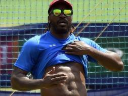 Photo : Chris Gayle 'Packs' a Punch Ahead of Crucial Semifinals vs India