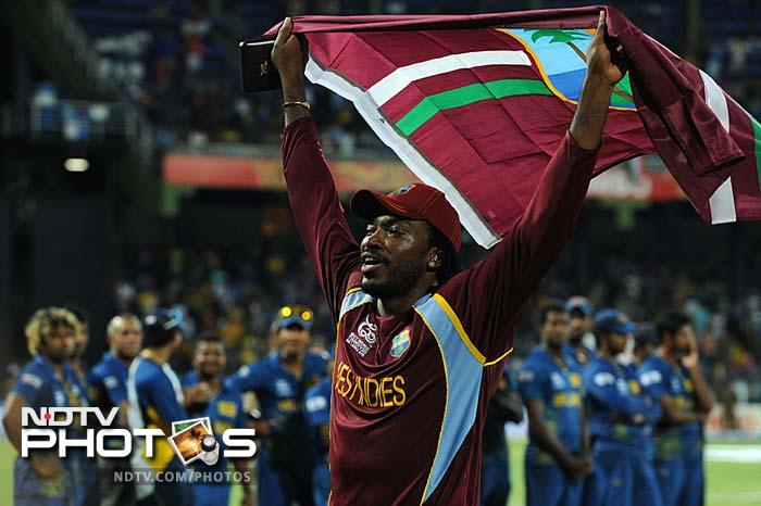 Gayle takes a round of the stadium.