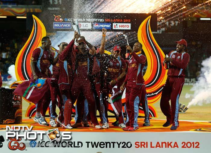 Trust the men from the Caribbeans to celebrate in style. The newly crowned World T20 Champions made a party floor of wherever their feet fell after beating Sri Lanka. A look (AFP and AP images)