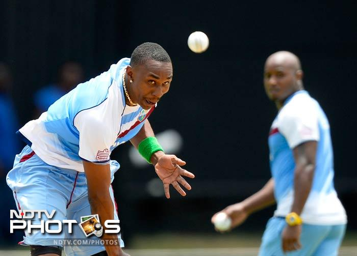 "The current West Indies skipper, Dwayne Bravo, goes through his routine. <br> ""We are disappointed at how we exited the Champions Trophy, but I think those who look at the competition closely say that we really gave it our best shot,"" said Bravo on his arrival here for the series which opens with the hosts taking on Sri Lanka."