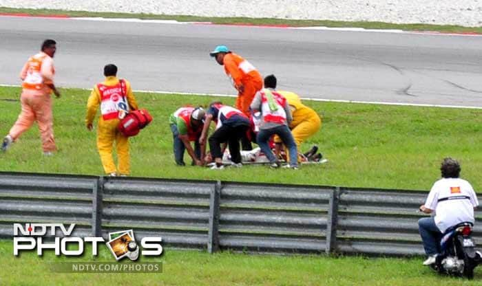 """""""Despite their (doctors') efforts, Marco sadly succumbed to his injuries at 4:56pm local time (0856 GMT),"""" MotoGP said in a sombre statement. """"Everybody involved in MotoGP extends its deepest condolences to Marco's family, friends and team at this tragic loss."""""""