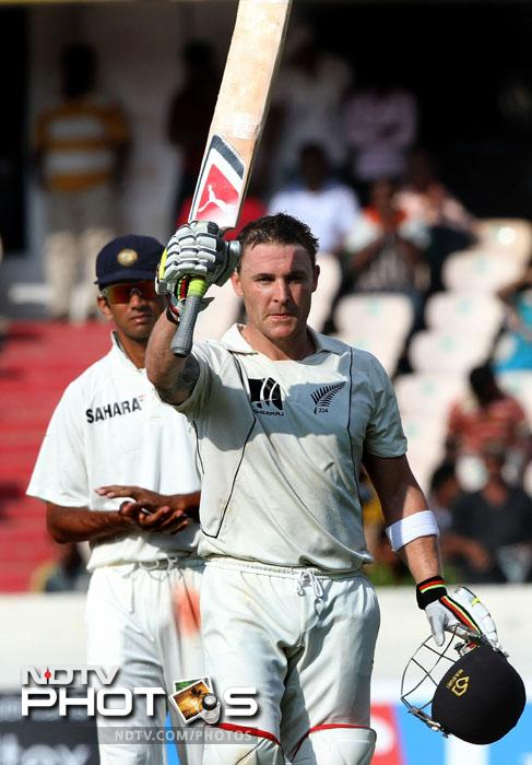 <b>The one and only:</b>Top performances from either side meant that huge totals were on the cards but the test match primarily belonged to one man - Brendon McCullum. His massive 225 off 308 balls is his only double-ton in tests. It also ensured that the series went 0-0 in the decider.