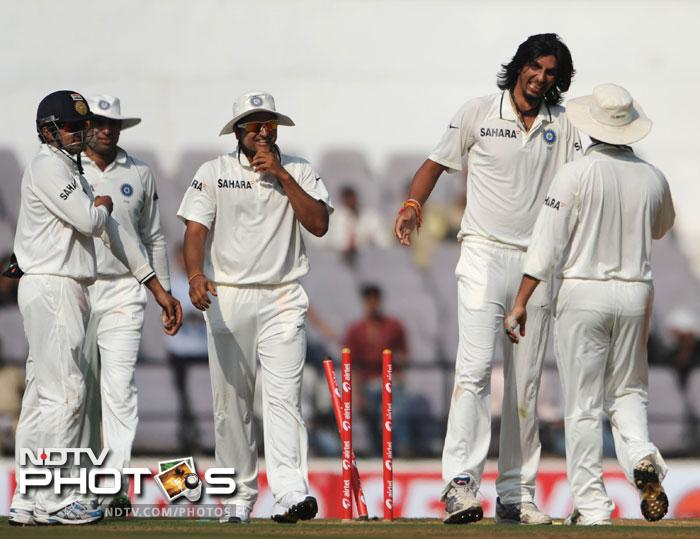 <b>Seventh heaven:</b>Ishant Sharma did not play in the first two test matches. With Zaheer Khan not playing the final match, the lanky Delhi fast bowler got his chance and found a great way to deliver. With figures of 7/58 in the match, he was the chief destructor.