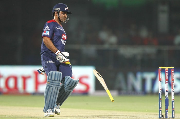 Although Delhi skipper Mahela has categorically denied that the team overly depends on Viru, yet, a firing Sehwag is not just a treat to watch but also an inspiration for others to perform. But the dashing opener has failed to find the touch of old. A tournament like IPL just might have been what the 'doctor ordered' for him but his form keeps eluding him. (BCCI Image)