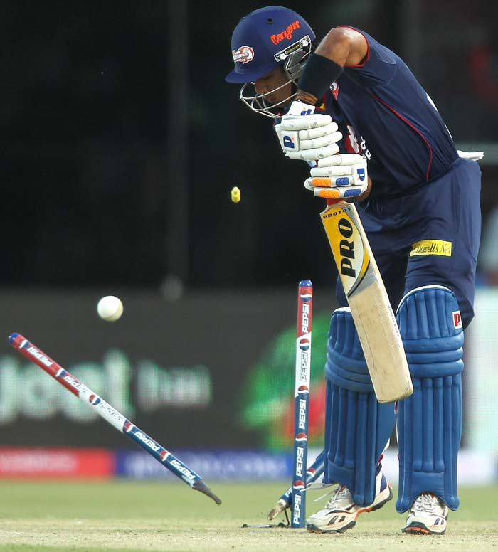 Unlike some other sides, Delhi's youngsters too have not set the stage alight. Unmukt Chand never got up or did not have the chance to, after Brett Lee's outswinger got him out bowled off the first ball of the first game of 2013. Even Manprit Juneja has not fired as expected off him. (BCCI Image)