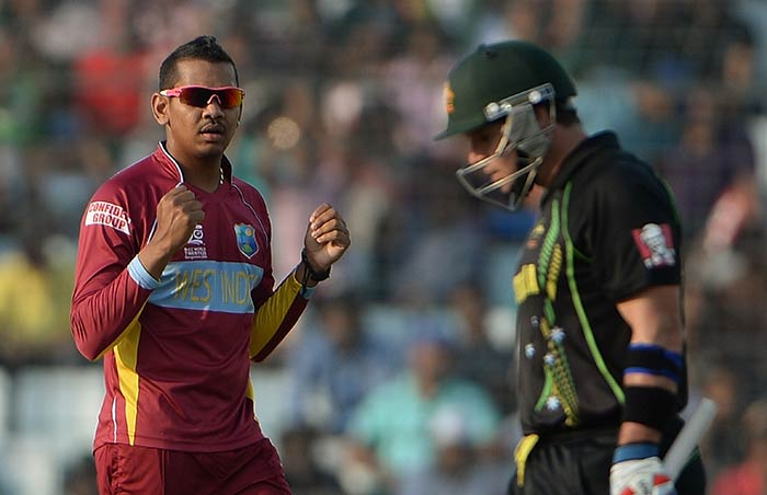 While the World's No.1 T20 bowler, Sunil Narine bagged figures of 2/19.