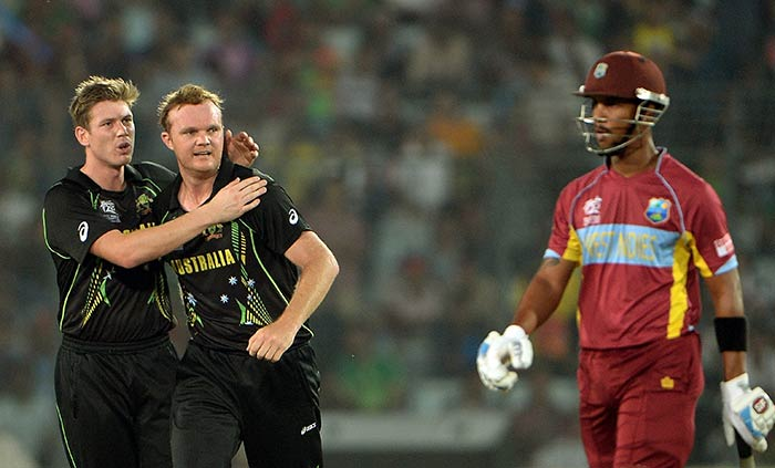 Gayle had the company of Lendl Simmons in the middle overs. Simmons scored 26 before being dismissed by Doug Bollinger.