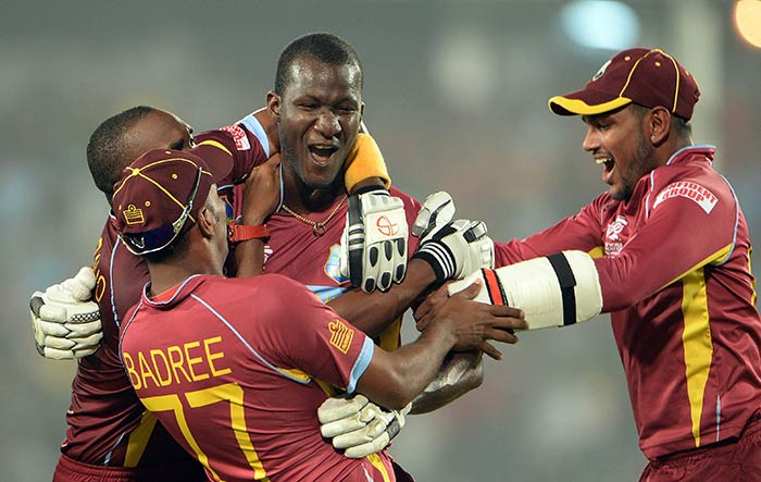 With Dwayne Bravo (27) for company, Sammy smashed 19 runs off the penultimate over from Mitchell Starc and finished the game with two big sixes in the final over.
