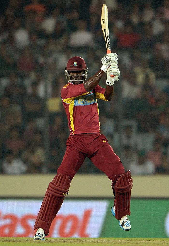 Bravo partnered with skipper Darren Sammy (in pic) who hit 42* off 20 as the two helped Windies hit 82 in the final five overs.