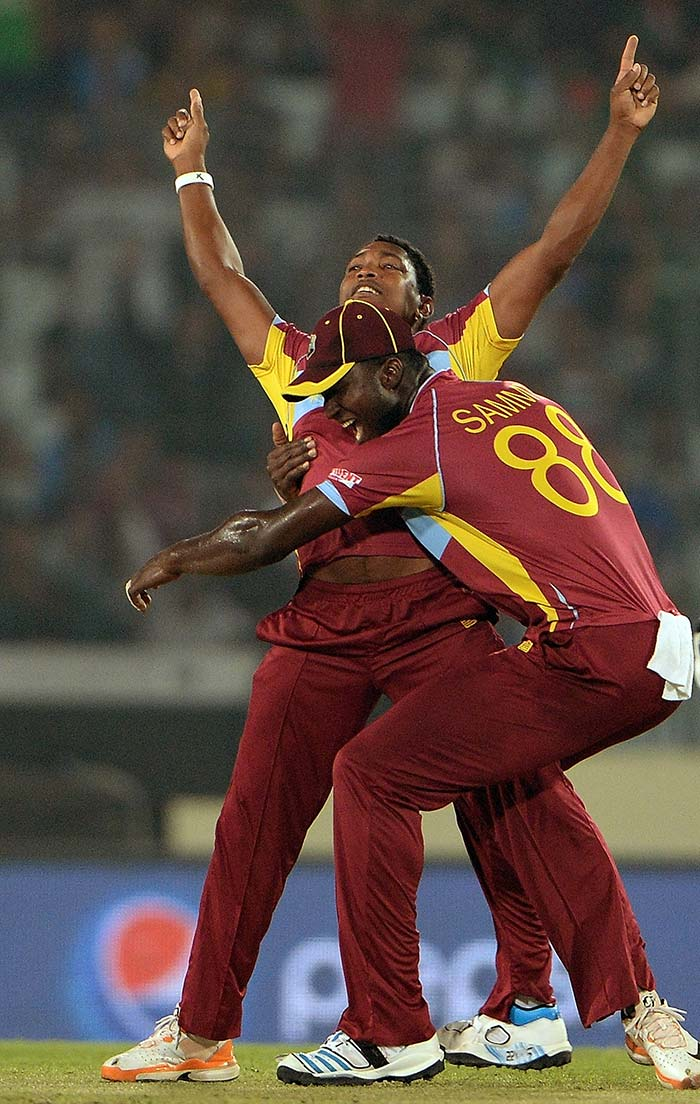 Both Badree (in pic) and Narine claimed three wickets each to make a mockery of the opposition. Pakistan managing only 82 in 17.5 overs before surrendering.