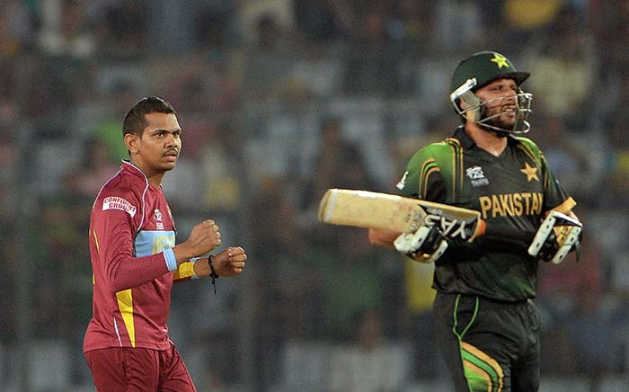 Set a target of 167 runs, Pakistan batsmen were at the mercy of West Indies' spinners Sunil Narina (in pic) and Samuel Badree.