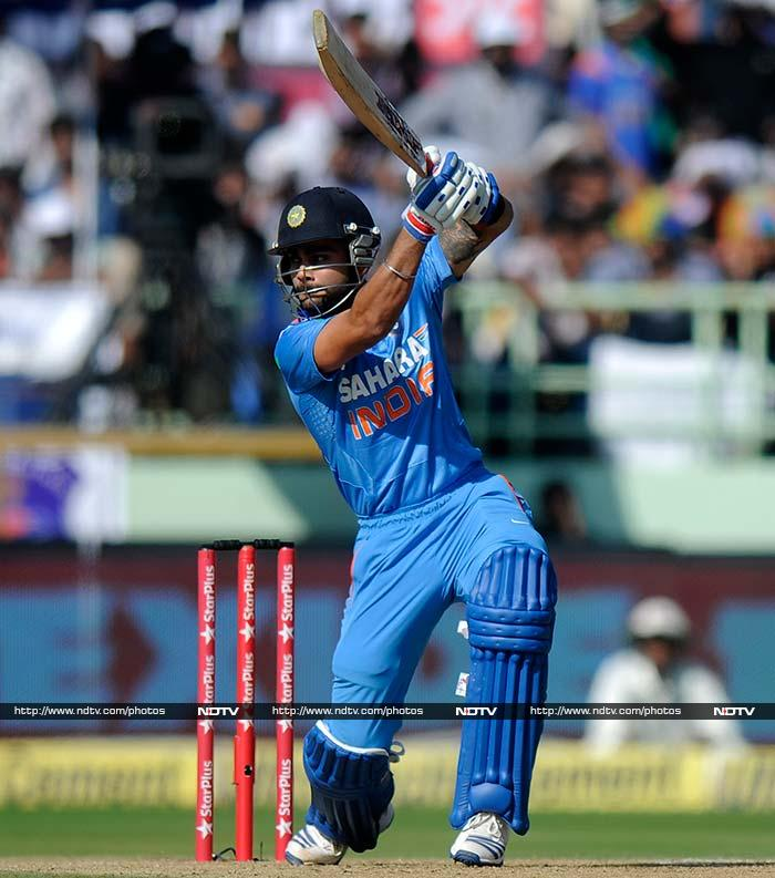 Dhawan was partnered by Virat Kohli who looked at ease as the duo kept the West Indies at bay.